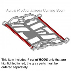Snowmobile Rack - Pair of Rods Only