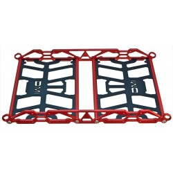 Snowmobile Tunnel Rack Large Ski Doo Red Sides and Black Bottom Plates